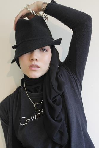 With hijab