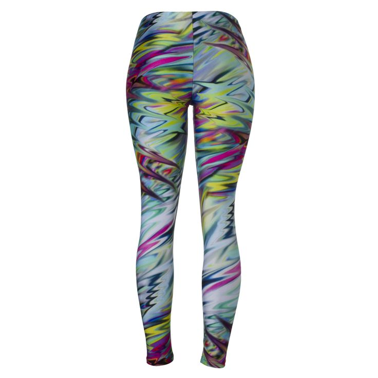 Go crazy with these awesome multi-coloured leggings!  - Track & Field Ondas Leggings in Multi Colour  #running #printedrunningtights #tights #fitness