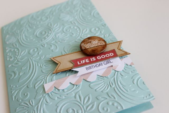 Embossed card tutorial by Jot publisher Kim Archer using the Big Shot.