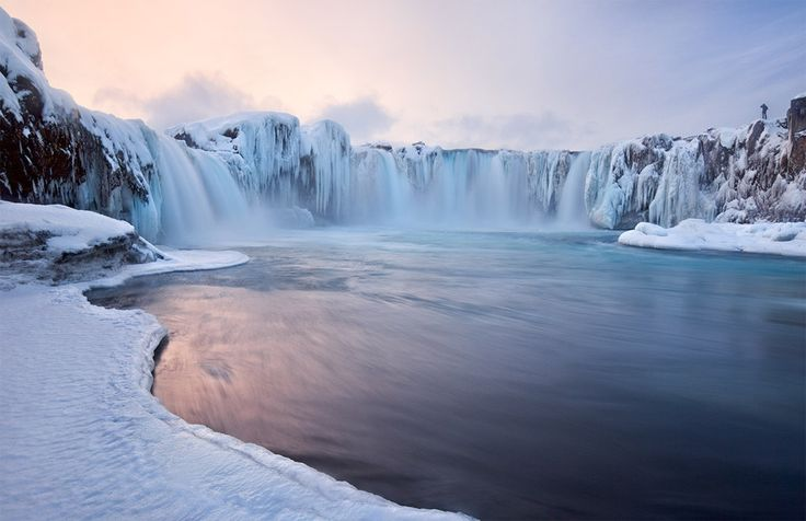 godafoss falls, icelandPhotographers, Winter Snow, Iceland, Goddesses, Godafoss Fall, Places, Nature Beautiful, Planets Earth, Landscapes Photography