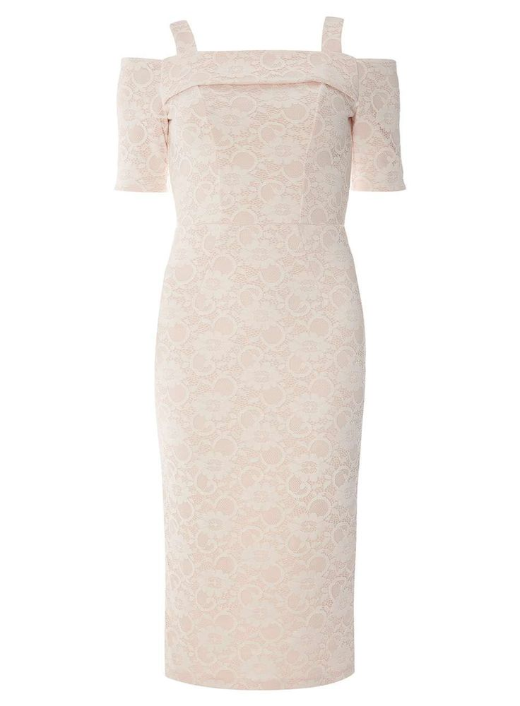 Womens **Tall Ivory Lace Pencil Dress- White