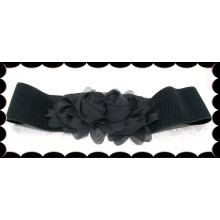 Roses Belt (Ebony) - $39.00