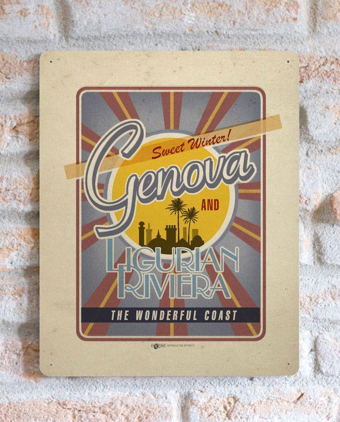 Genova Ligurian Riviera | TARGA | Vimages - Immagini Originali in stile Vintage