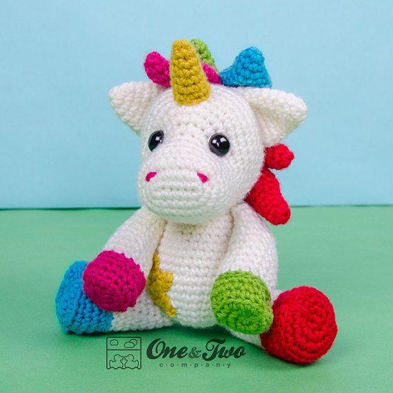 Nuru la Licorne Amigurumi PDF Crochet Pattern par oneandtwocompany