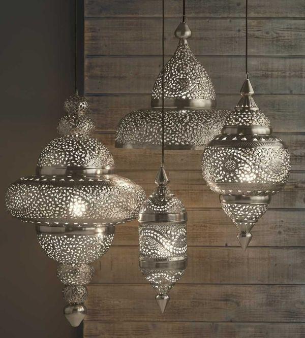 moraccon hanging lanterns | silver Moroccan Hanging Lanterns by cheryl b kitts