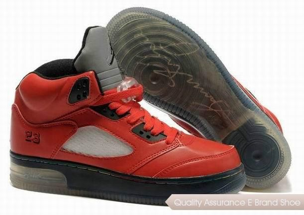 UK sale Men Nike Air Jordan 5 Retro Anti Pelz Black Orange Shoes