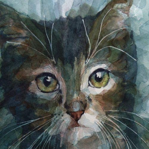 Purrrrrfect   Art : Kitty Cats   Watercolor cat, Art ...