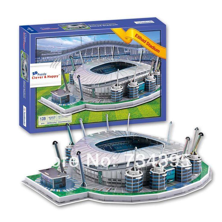 3d стереоскопический для взрослых головоломки голубая луна манчестер сити Ittihad стадион бумажная модель модель из развивающие игрушки для детей