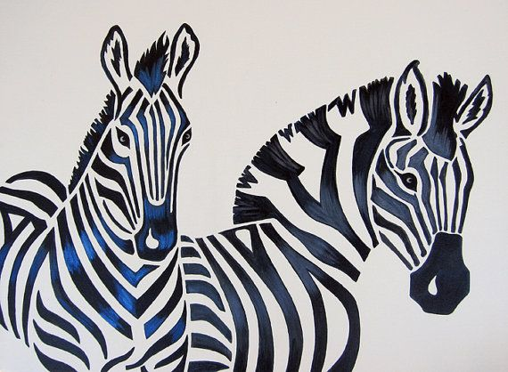 Zebra Nursery Art Safari Zoo Animal Jungle Theme by ModernKidsArt, $95.00