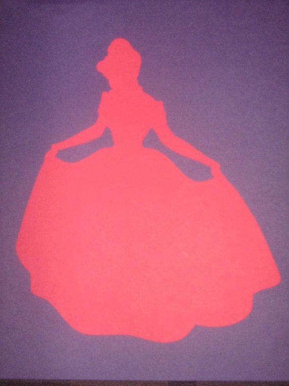 Disney Princess Cinderella Silhouettes for by ThePaperdollPrincess, $5.00