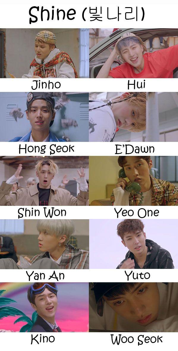 Pentagon Shine Who S Who Pentagon Pentagon Wooseok Pentagon Hongseok