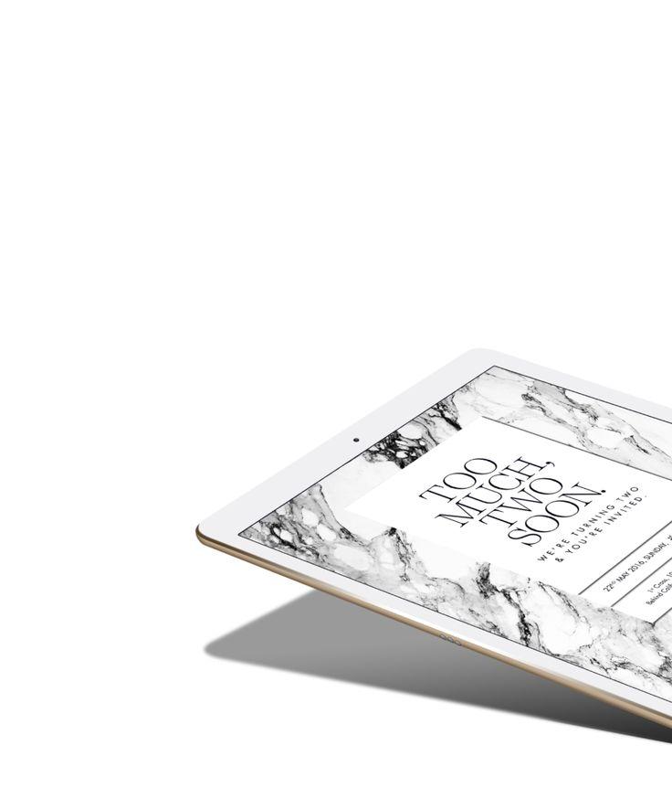 Invite Design by Sankhalina #graphicdesign #invite #emailer #blackandwhite #marbled