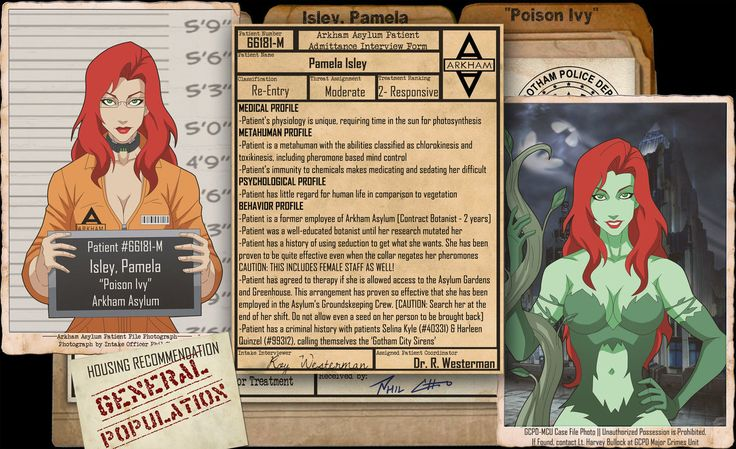 Arkham Files - Poison Ivy by Roysovitch on DeviantArt