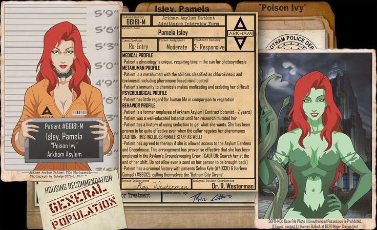 Arkham Files - Poison Ivy by Roysovitch on DeviantArt