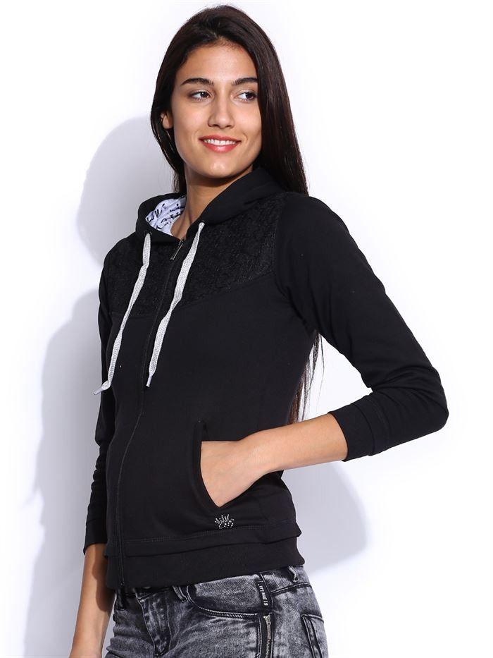 Get Flat 25% OFF On All #Duke  Collection By +Return Favors. Duke #Casual   #Sweatshirt   For #Women  In Various Colors.#Shop   #Online  :-http://www.returnfavors.com/brands/women/clothing/winter-wear/duke-solid-black-full-sleeves-hooded-womens-sweatshirt-by-returnfavors-3942.html