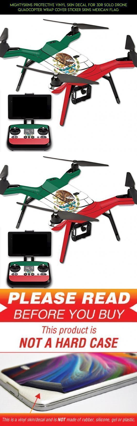MightySkins Protective Vinyl Skin Decal for 3DR Solo Drone Quadcopter wrap cover sticker skins Mexican Flag #camera #wrap #products #parts #plans #3dr #technology #kit #drone #racing #gadgets #tech #shopping #fpv