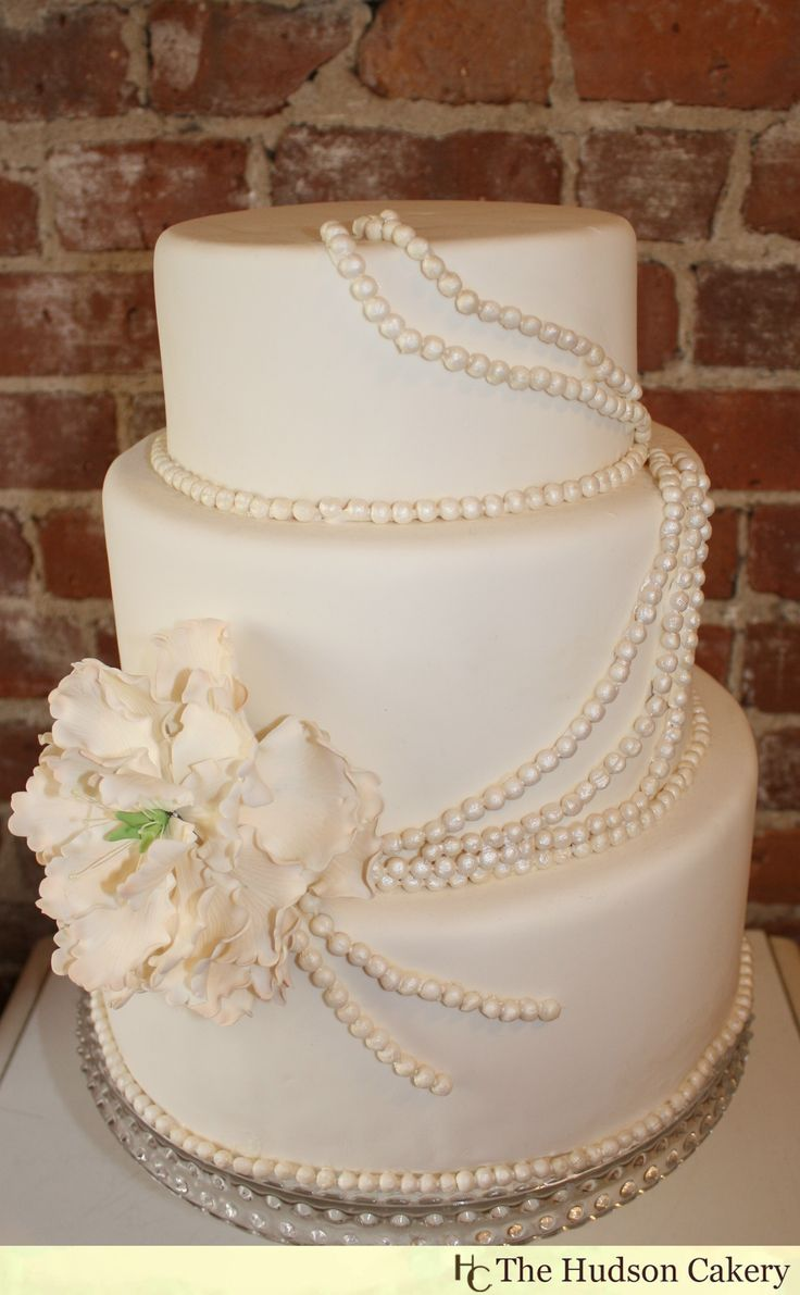 wedding cakes | One of our most popular designs, this elegant wedding cake is adorned ...