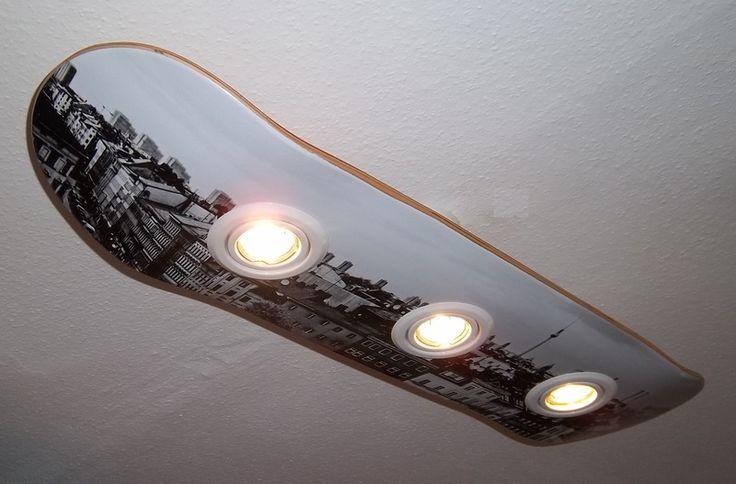 Skateboard Deckenlampe berlin von skateboardlampen.berlin auf DaWanda.com