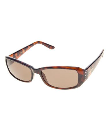 Another great find on #zulily! Red Tortoise Thin Rectangle Sunglasses #zulilyfinds