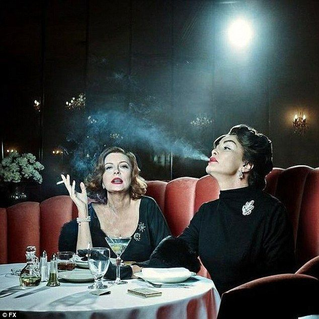 Susan Sarandon as Bette Davis and Jessica Lange as Joan Crawford in Feud...Jack Warner, the former studio boss of Davis and Crawford, flatly refused to finance the film, commenting: 'I wouldn't give you one dime for those two washed-up old bitches.'