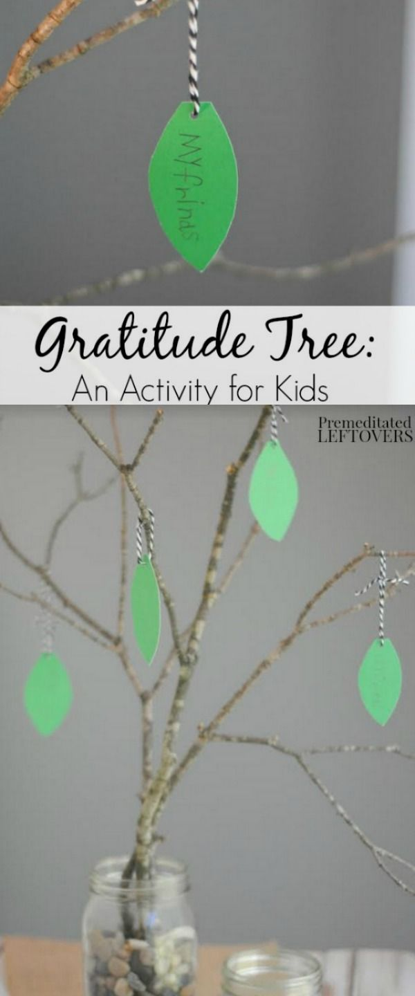 Easy Gratitude Tree Tutorial - Help your kids reflect on what they are thankful for with this Gratitude Tree Activity. It's a great craft for the upcoming Thanksgiving holiday.