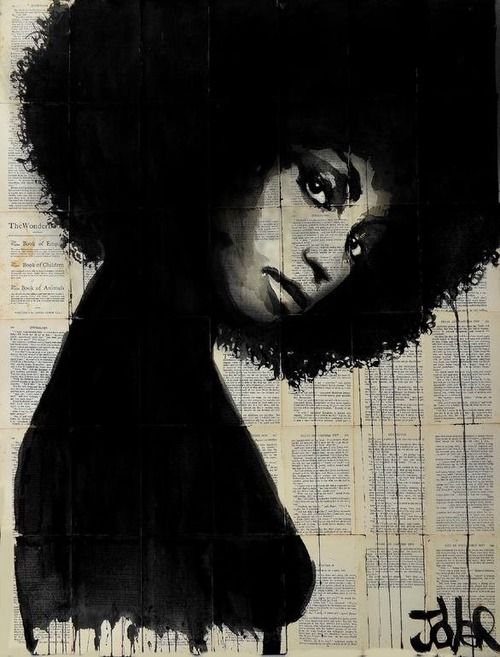 Loui Jover: Ink Art Set Against Vintage Book Pages