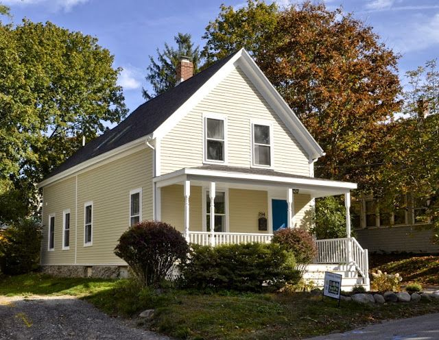 """Known in Maine as the """"New Englander,"""" the simple gable-front Victorian house with porch and rear additions is common throughout the United States. This house was built in 1892 and originally had a wrap-around porch. This blog chronicles the steps to renovate it, including lead, asbestos and mold removal."""