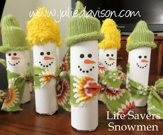 Julie's Stamping Spot -- Stampin' Up! Project Ideas Posted Daily: Life Savers Snowmen Treats