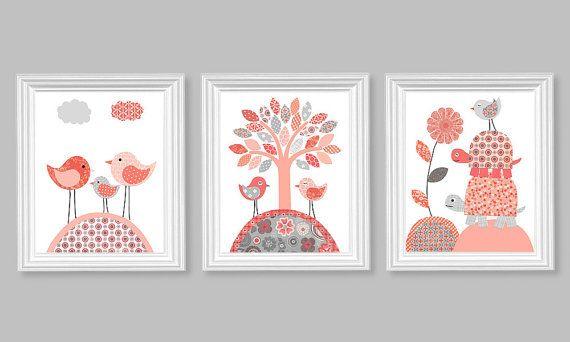 Nursery Wall Art Baby Girl Room Girl Room by SweetPeaNurseryArt