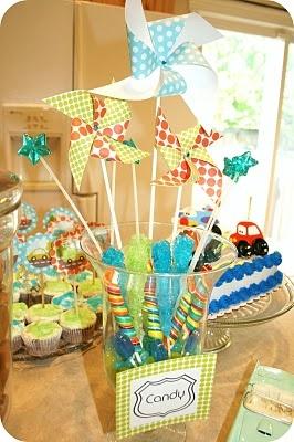 Car Party - Candy and Pinwheels Jar