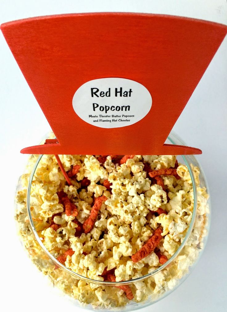 Red Hat Popcorn for Family Movie Night with The Boxtrolls #boxtrollsfamilynite #pmedia #ad