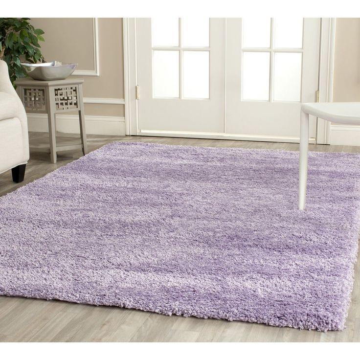 safavieh california cozy plush lilac shag rug x purple size x solid