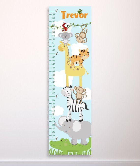 Photo Frame Growth Chart Kids Measuring Height Chart Owl owls New Girls