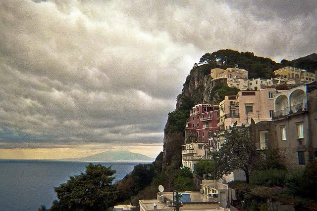 Capri and Vesuvius, Italy