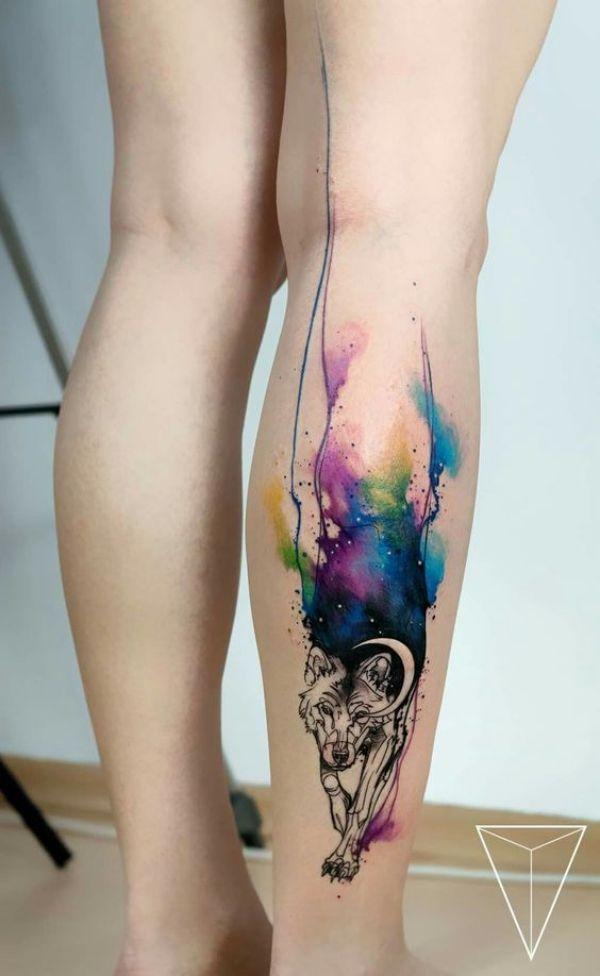 40 Maskulin Wolf Tattoo Designs für Männer