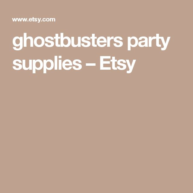ghostbusters party supplies – Etsy