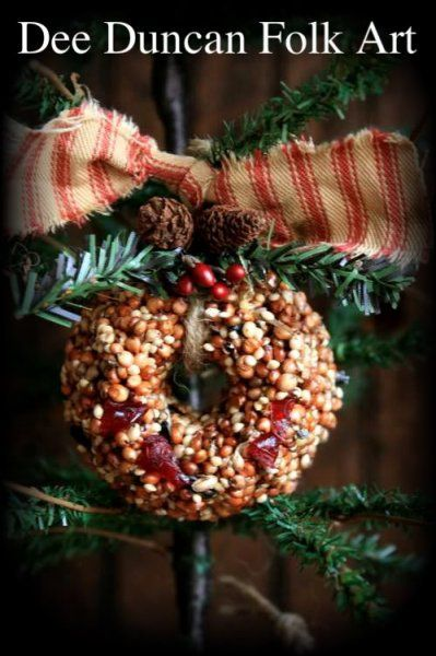 Free pattern for bird seed wreaths...