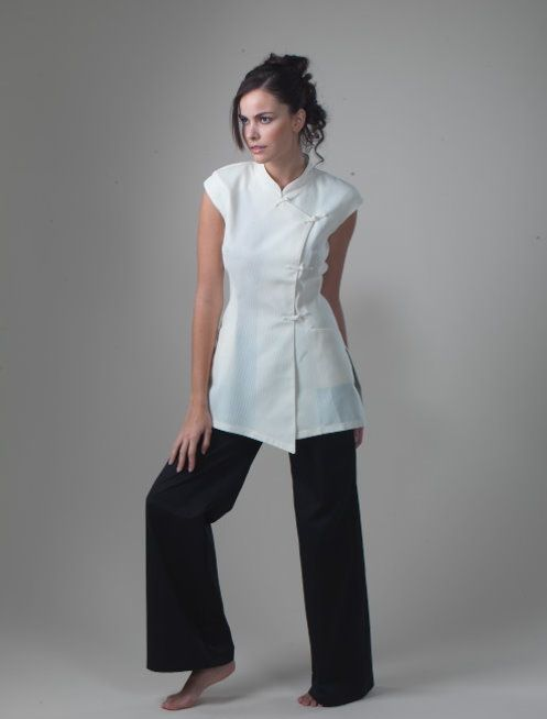 17 best images about spa uniform on pinterest turquoise for Spa uniform white