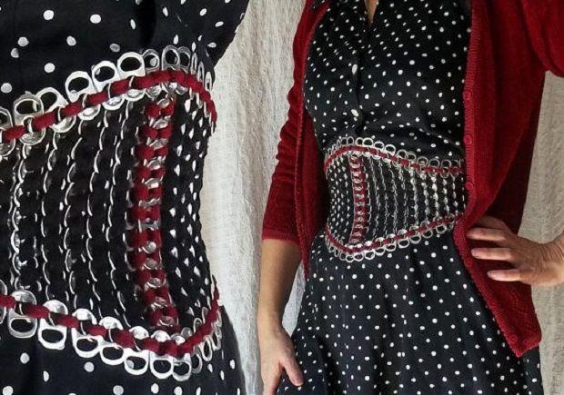 Vestito medievale Fai da te http://www.lovediy.it/vestito-medievale-fai-da-te/ #Linguettedilattine riciclate, per realizzare un corsetto favoloso!