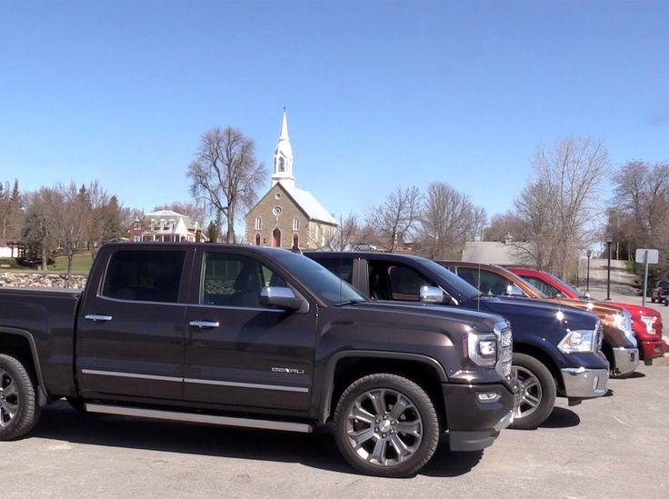 Nous avons testé 4 camionnettes pleine grandeur : le Ford F-150, le Ram 1500, le GMC Sierra et le Toyota Tundra.