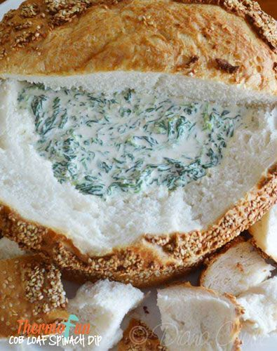 ThermoFun – Cob Loaf Spinach Dip Recipe