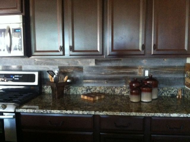 Salvaged Wood Kitchen Cabinets