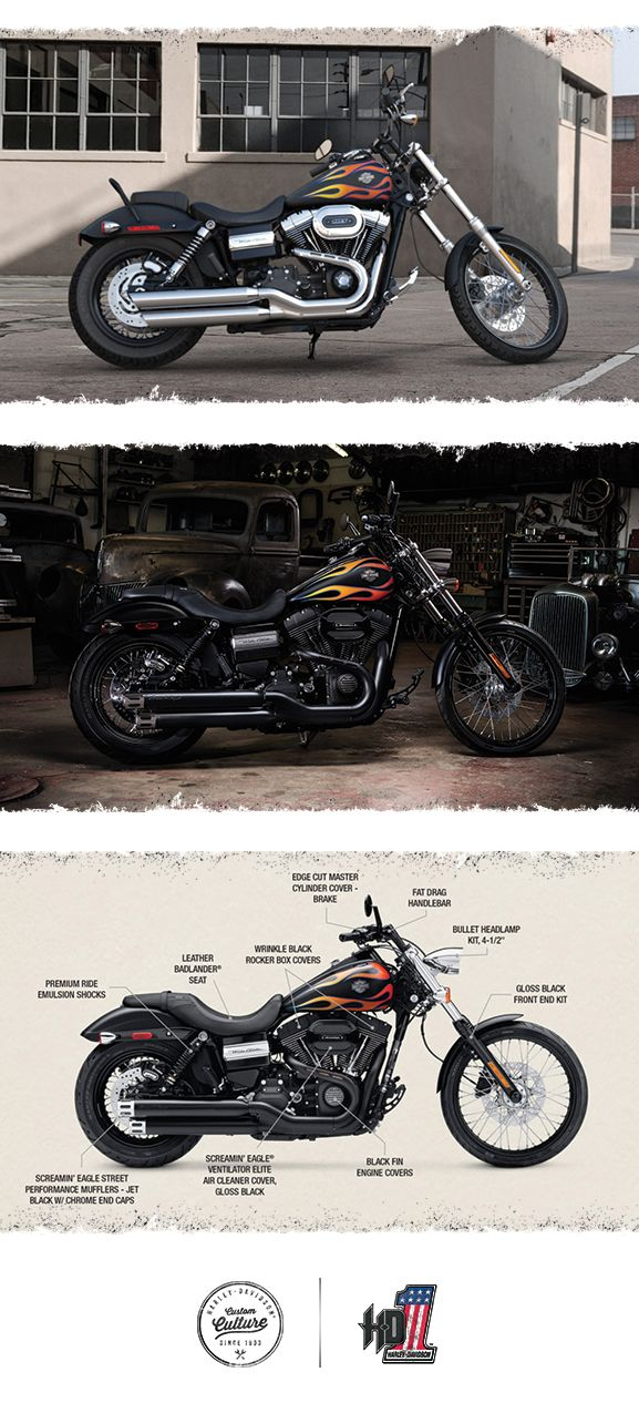 There's no other bike quite like it in the world. | 2016 Harley-Davidson Wide Glide