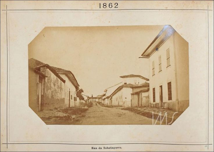 Rua Tabatinguera Ano: 1862