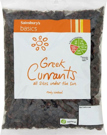 Sainsbury's Basics Greek Currants (500g)