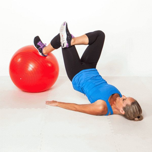 Stability Ball Glute Bridge: 17 Best Images About C. Swiss Ball .. On Pinterest