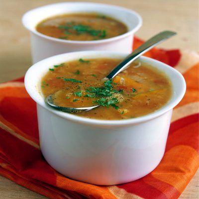 Supa de linte rosie cu bulion