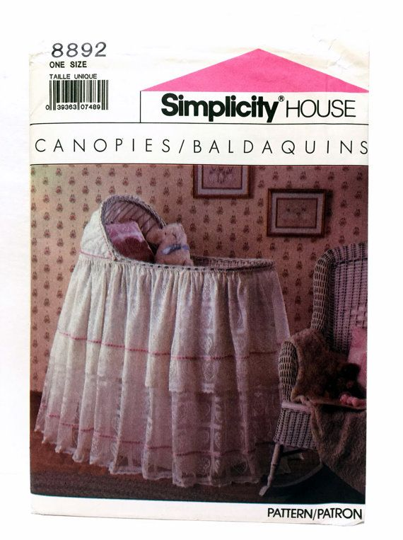 Vintage Simplicity 8892 Bassinet Cover Pattern by UpstairsAttic