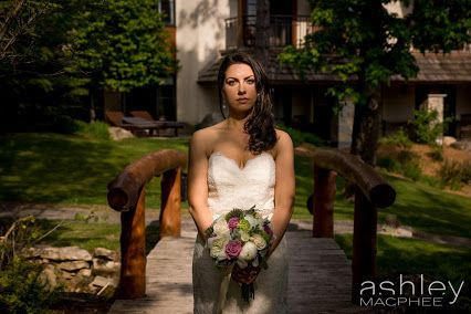 One of my favourite bridal portraits from Andrew and Andreas Mont Tremblant Hotel Quintessence wedding.