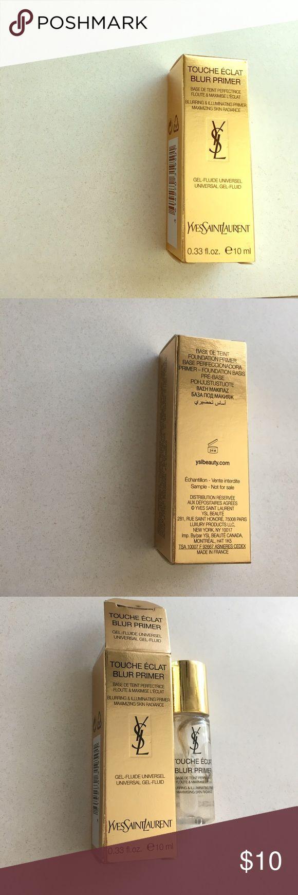 YSL Touche Eclat Blur Primer YSL Touche Eclat Blur Primer, unopened 10ml deluxe sample size Yves Saint Laurent Makeup Face Primer